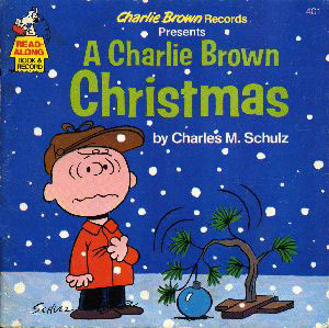 "Another more kid-friendly cover for ""A Charlie Brown Christmas"" LP"