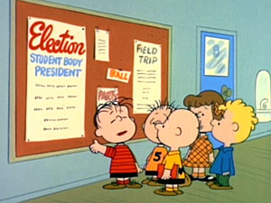 Linus ponders the student body presidency