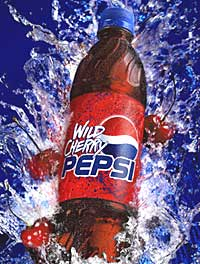 Diet Pepsi Wild Cherry Bottles
