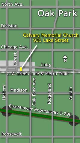 Map to Calvary Memorial Church
